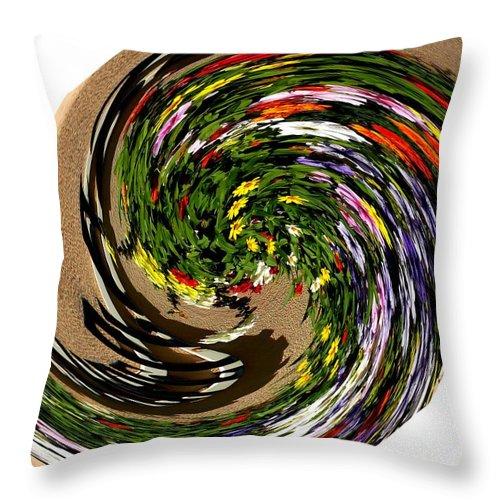 Modern Art Throw Pillow featuring the photograph Infinity Flower Spiral 1 by Cj Carroll