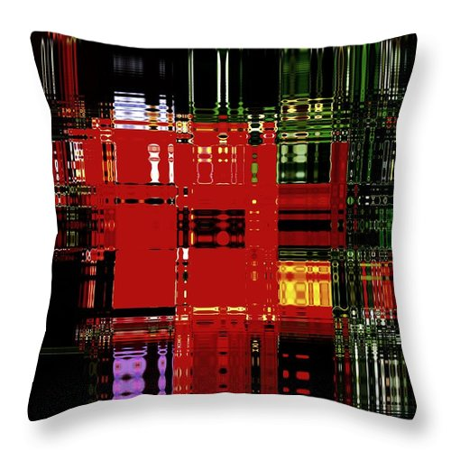 Modern Art Throw Pillow featuring the photograph Infinity Jewel Mosic Horizontal 3 by Cj Carroll
