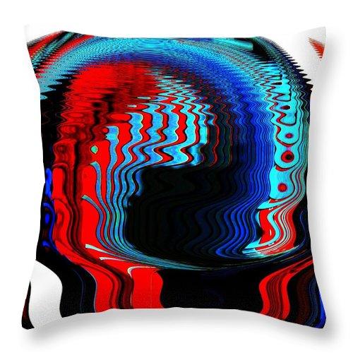 Modern Art Throw Pillow featuring the photograph Infinity Mask 3 by Cj Carroll