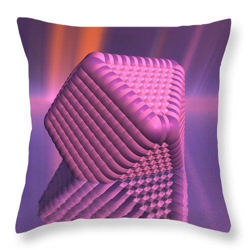 Surreal Throw Pillow featuring the digital art Inflation by Judi Suni Hall