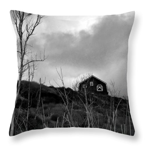 Barn House Throw Pillow featuring the photograph Infrared Barn by Doug Dailey