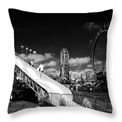Infrared Throw Pillow featuring the photograph Infrared Carnival by Paul W Faust - Impressions of Light