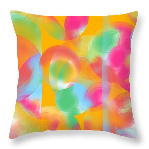 Abstract Throw Pillow featuring the painting Inner Circle by Christine Fournier