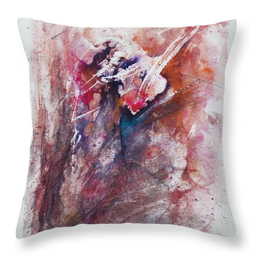 Abstract Throw Pillow featuring the painting Inner Conflict by Rachel Christine Nowicki