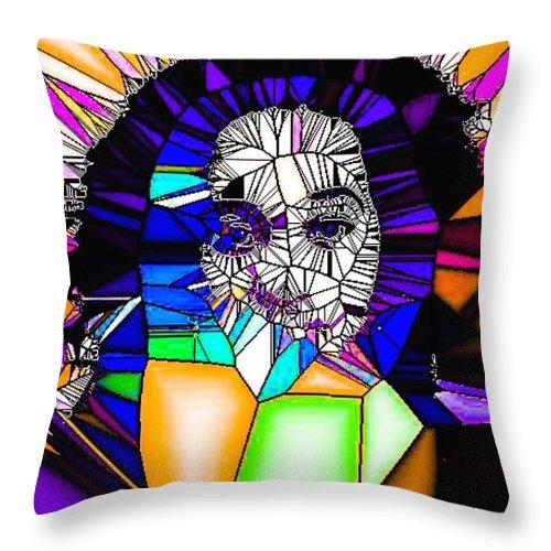 People Throw Pillow featuring the digital art Inner Strength by Tina Vaughn