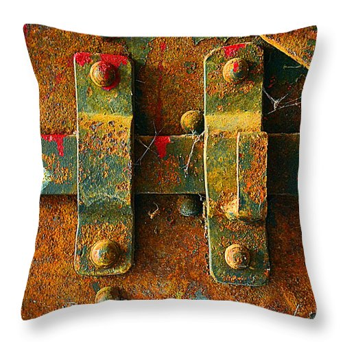 Abstract Throw Pillow featuring the photograph Insecurity by Lauren Leigh Hunter Fine Art Photography