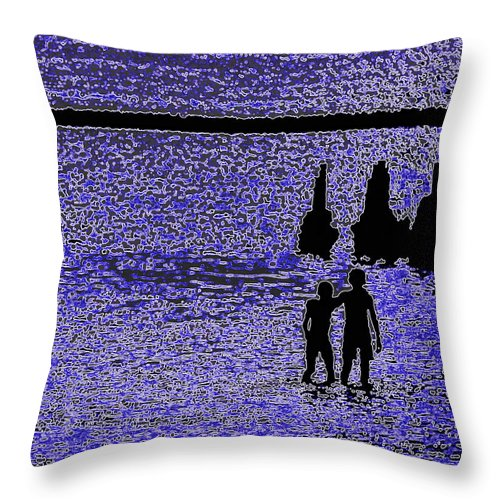 Throw Pillow featuring the photograph Inseparable Friends by John Stokes