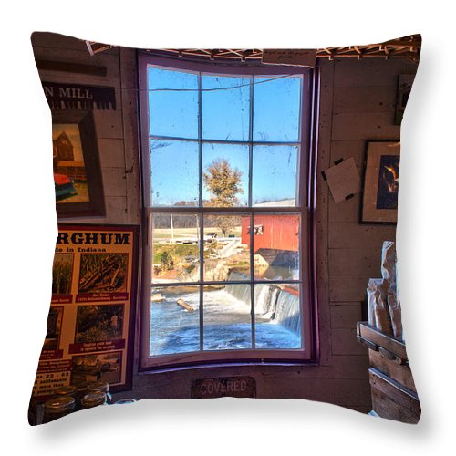 Parke County Indiana Throw Pillow featuring the photograph Inside Looking Out by Thomas Sellberg
