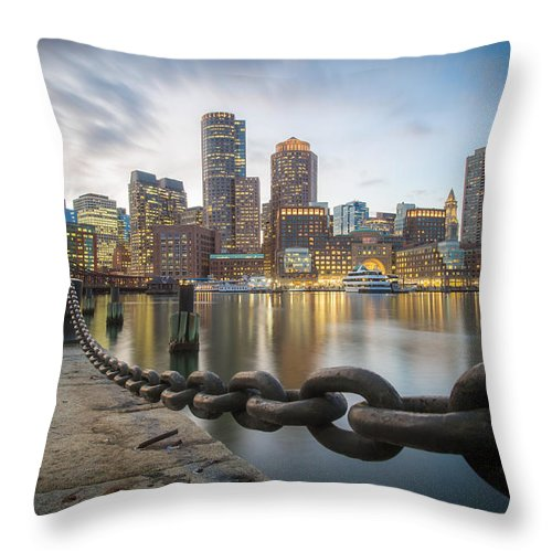 Boston Throw Pillow featuring the photograph Inside The Fence by Paul Treseler