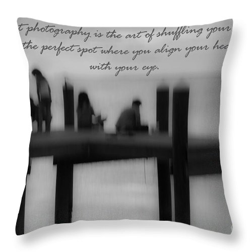 Photography Throw Pillow featuring the photograph Inspirational Photography by Rene Triay Photography