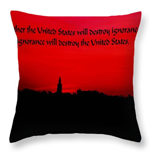 Inspirational Throw Pillow featuring the photograph Inspirational Quote by Gary Wonning