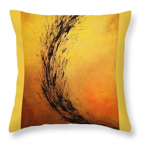 Abstract Throw Pillow featuring the painting Instinct by Todd Hoover