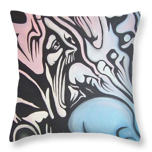 Tmad Throw Pillow featuring the painting Intensity by Michael TMAD Finney