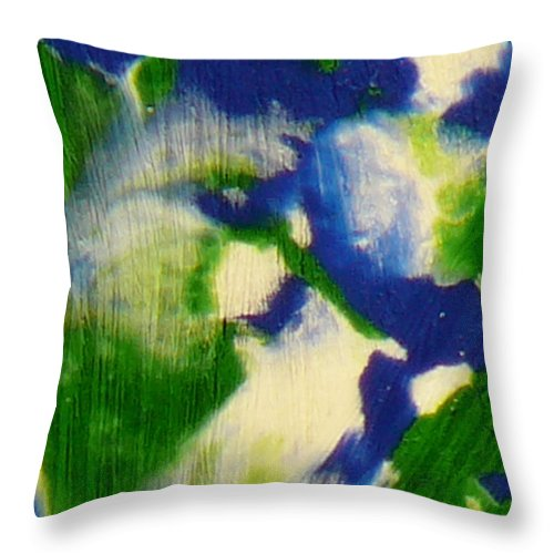 Ice-painting Throw Pillow featuring the photograph Intergalactic Observer by Chris Sotiriadis