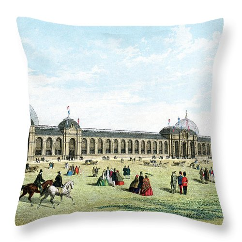 Event Throw Pillow featuring the digital art International Exhibition Of 1862 by Duncan1890
