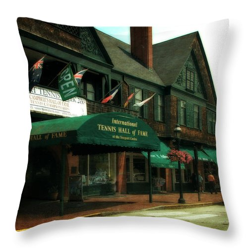 Newport Throw Pillow featuring the photograph International Tennis Hall Of Fame by Michelle Calkins