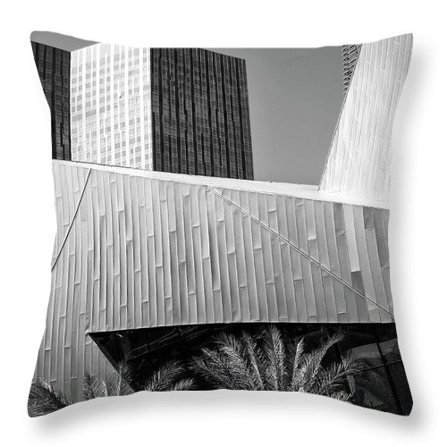 Vegas Throw Pillow featuring the photograph Intersection 2 Bw Las Vegas by William Dey