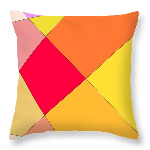 Geometric Throw Pillow featuring the digital art Intersection Two by Jeff Gater