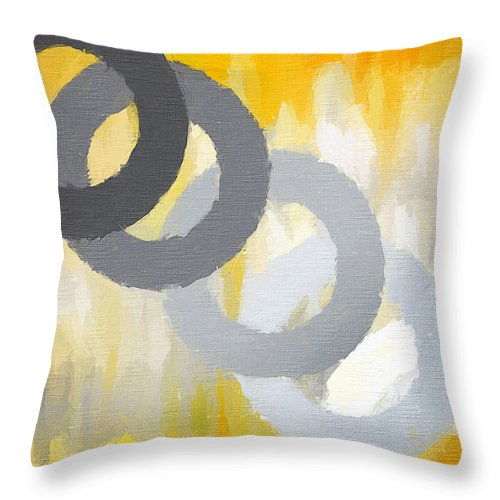 Throw Pillow featuring the painting Intertwine by Lourry Legarde