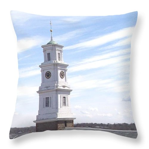 Architecture Throw Pillow featuring the photograph Into the Blue by Pharris Art