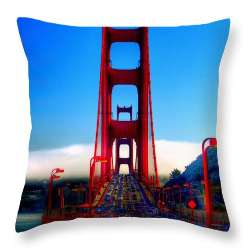 Into The Fog Throw Pillow featuring the photograph Into The Fog by Patrick Witz
