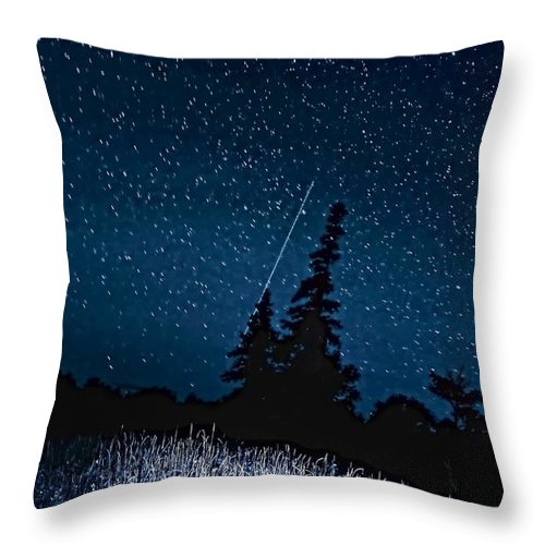 Galaxy Throw Pillow featuring the photograph Into The Night by Steve Harrington