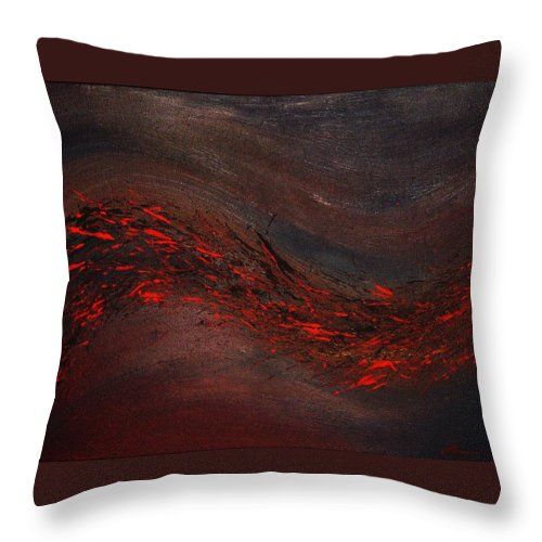 Acrylic Throw Pillow featuring the painting Into The Night by Todd Hoover
