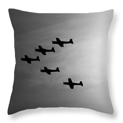 Aircraft Throw Pillow featuring the photograph Into The Sun by Joe Schofield