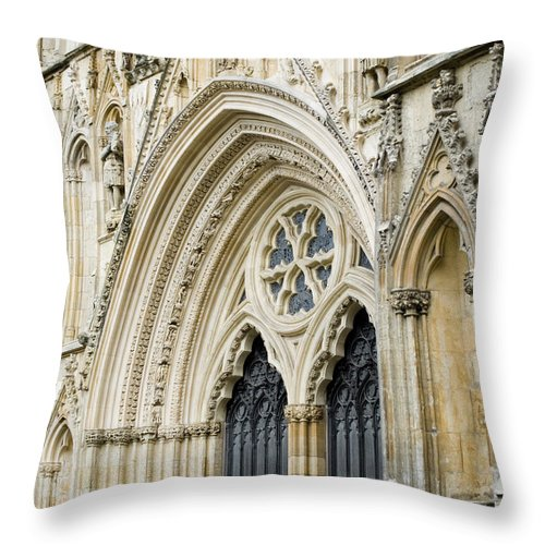 Church Throw Pillow featuring the photograph Intricate Detail by Breanna Calkins