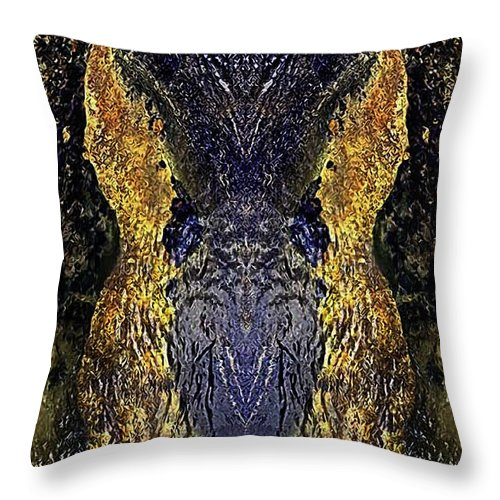 Digital Throw Pillow featuring the digital art Introspection by Zygmund Zee