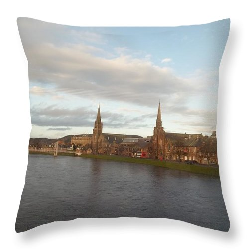Inverness Throw Pillow featuring the photograph Inverness by James Potts