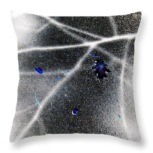 Black And White Throw Pillow featuring the photograph Inverted Shadows by Shawna Rowe