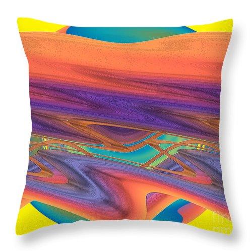 Yellow Throw Pillow featuring the digital art Inw_20a6039 Weaving by Kateri Starczewski
