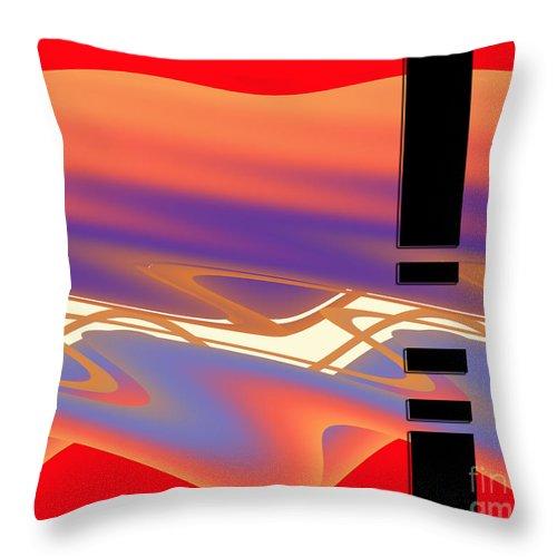 Fluid Throw Pillow featuring the digital art Inw_20a6050 Weaving by Kateri Starczewski
