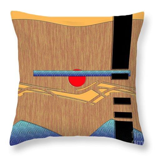 Brown Throw Pillow featuring the digital art Inw_20a6055 Wellsprings by Kateri Starczewski