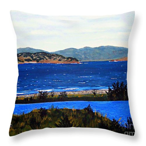 Islands Throw Pillow featuring the painting Iona formerly Rams Islands by Barbara Griffin