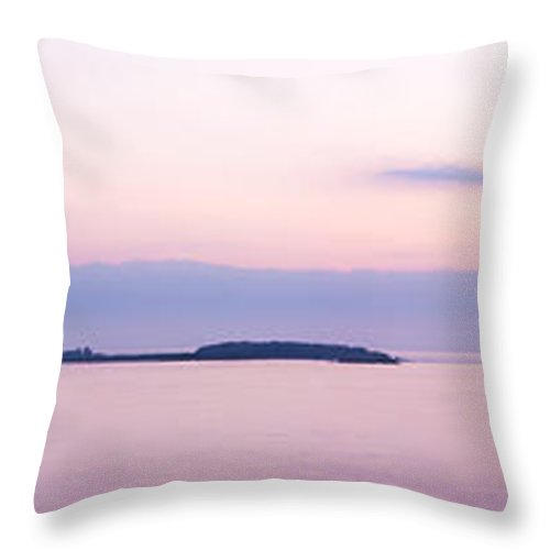 Blue Throw Pillow featuring the photograph Ireland's Eye by Semmick Photo