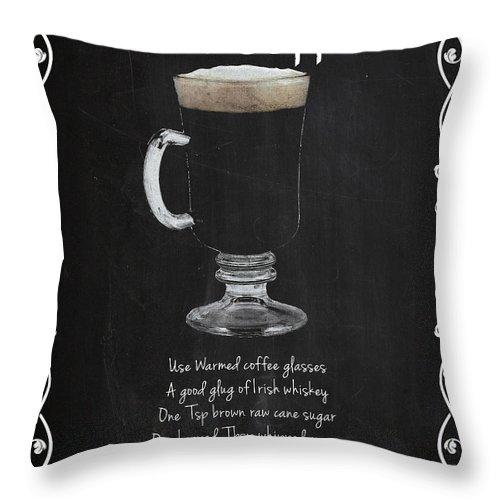 Irish Coffee Throw Pillow featuring the photograph Irish Coffee by Mark Rogan