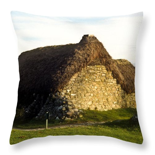 Irish Throw Pillow featuring the photograph Irish Hut by Douglas Barnett