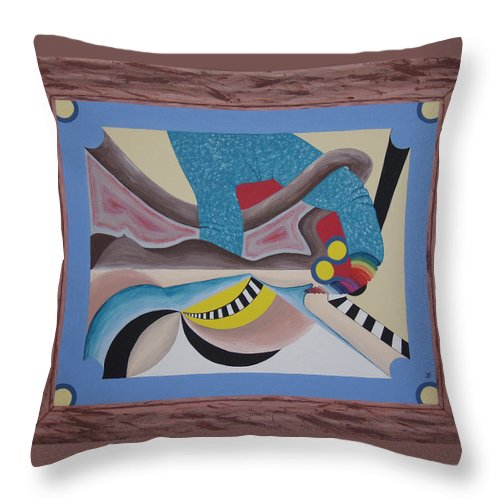 Expressionism Throw Pillow featuring the painting Irreconcilable Differences by Dean Stephens