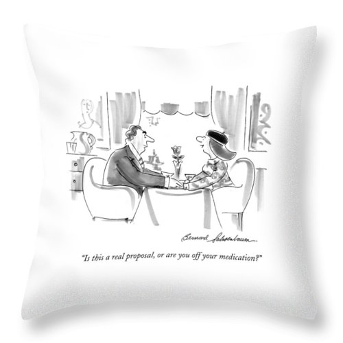 Is This A Real Proposal Throw Pillow For Sale By Bernard Schoenbaum