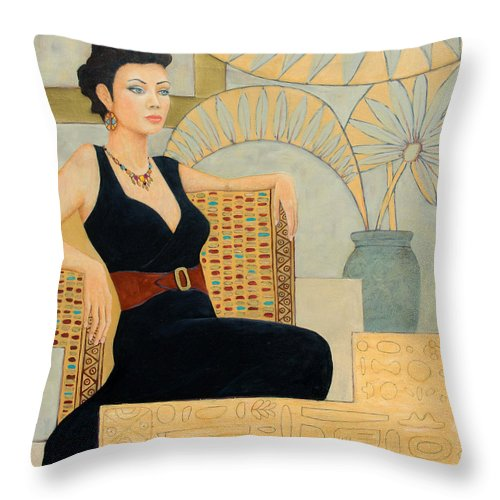 Fantasy Throw Pillow featuring the painting Isis by Don Perino