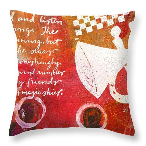 Women Throw Pillow featuring the mixed media Island Divas by Angela L Walker