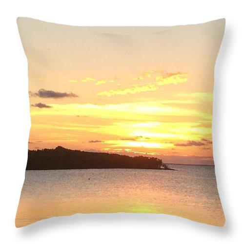 Island Sunset Throw Pillow featuring the photograph Island Sunset by Marian Palucci-Lonzetta