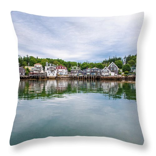 Town Throw Pillow featuring the photograph Island Village by Edwin Remsberg