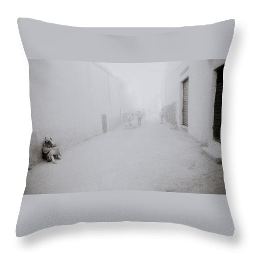 Solitude Throw Pillow featuring the photograph Isolation In Taza by Shaun Higson
