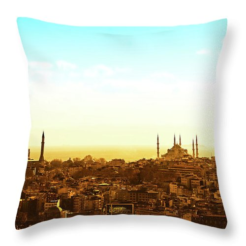 Tranquility Throw Pillow featuring the photograph Istanbul by Dhmig Photography