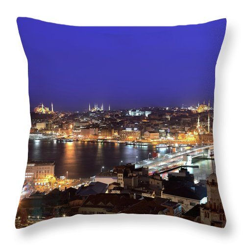 Istanbul Throw Pillow featuring the photograph Istanbul by Tolga Tezcan