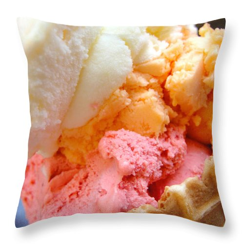 Gelato Throw Pillow featuring the photograph Italian Gelato by Tiffany Erdman