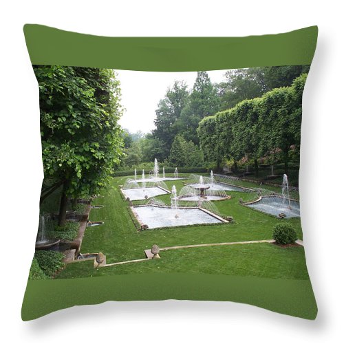 Fountain Throw Pillow featuring the photograph Italian Water Garden by Barbara McDevitt